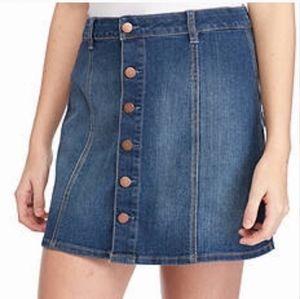 love, Fire Skirts - Love Fire short denim button down skirt